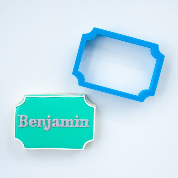 Frosted Cookie Cutter The Benjamin Plaque Cookie Cutter
