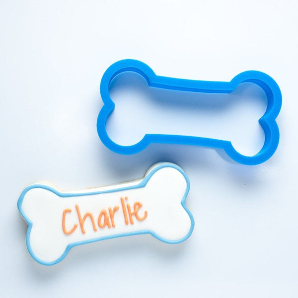 Frosted Cookie Cutter The Charlie Dog Bone Cookie Cutter
