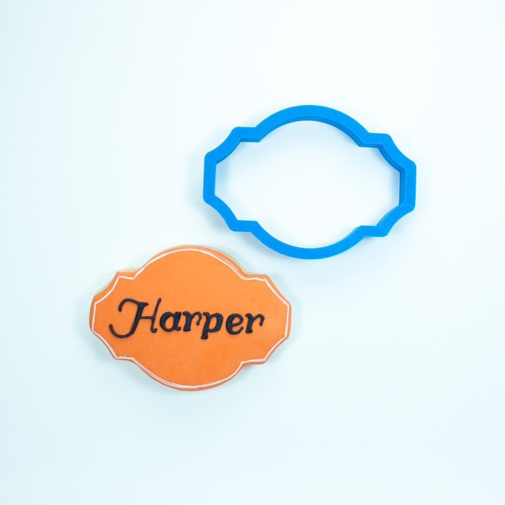 Frosted Cookie Cutter The Harper Plaque Cookie Cutter