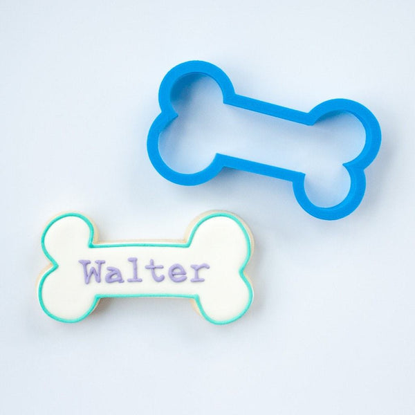 Frosted Cookie Cutter The Walter Dog Bone Cookie Cutter