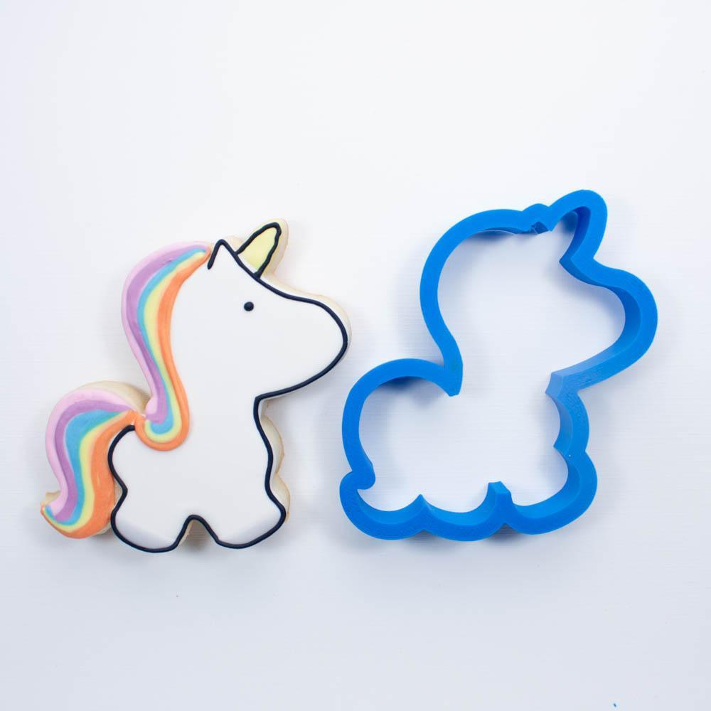 Frosted Cookie Cutter Unicorn Cookie Cutter