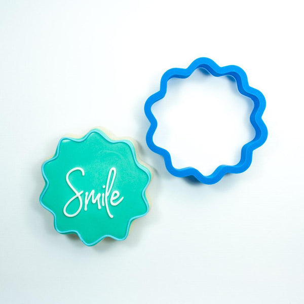 Frosted Cookie Cutter Wavy Circle Cookie Cutter