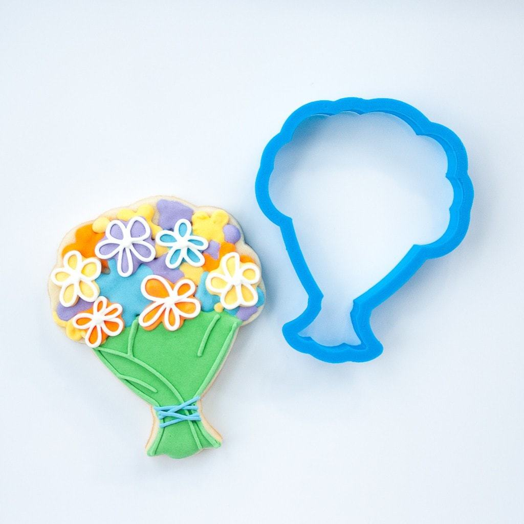 Frosted Cookie Cutter Wedding Bouquet Flower Cookie Cutter