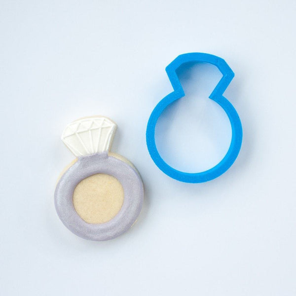 Frosted Cookie Cutter Wedding Ring Cookie Cutter
