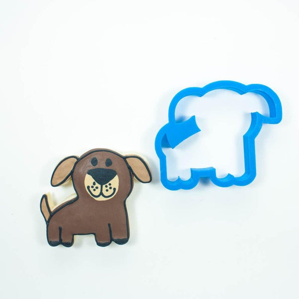 Frosted Cookie Cutter Whimsy Dog Cookie Cutter