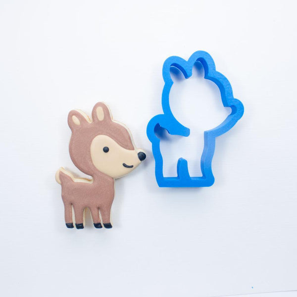 Frosted Cookie Cutter Woodland Deer Cookie Cutter