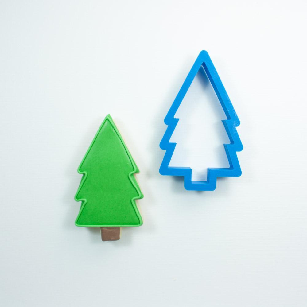 Frosted Cookie Cutter Woodland Tree Cookie Cutter