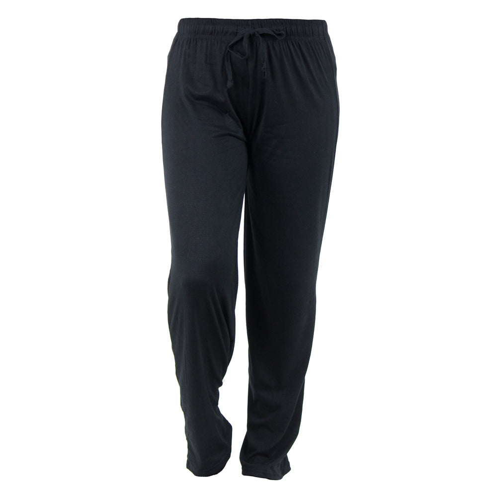 lounge pants, solid black, twilight, total bliss by hello mello