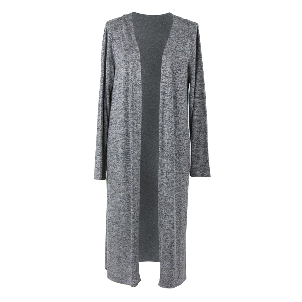 Carefree Threads Long Cardigan, Gray