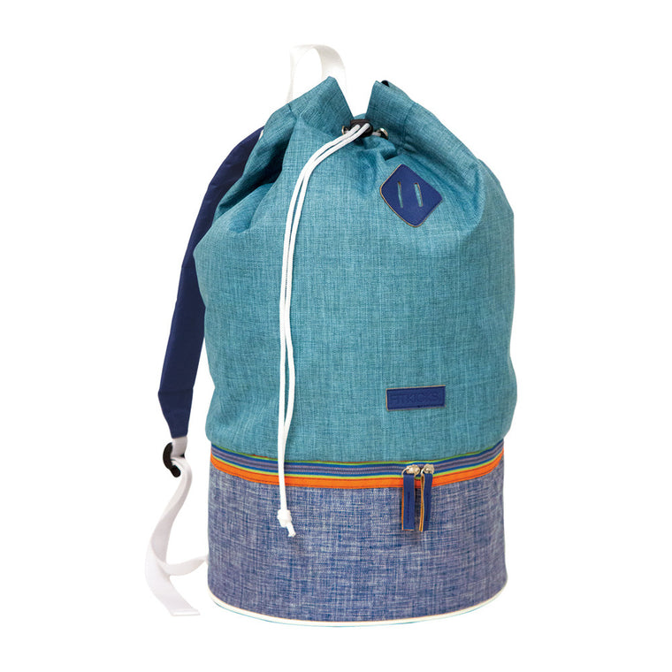 blue throwback day pack, backpack, cooler, bucket bag