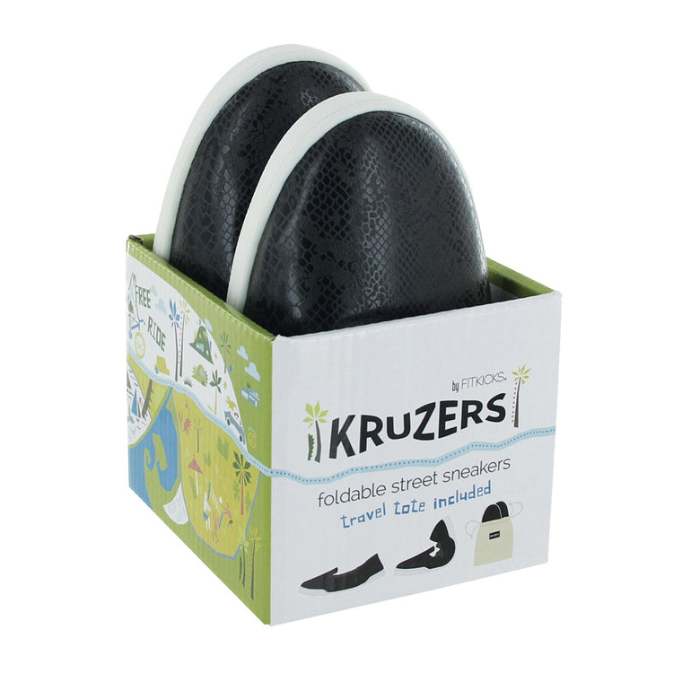 black kruzers foldable sneakers, shoes with bag, slip on sneakers