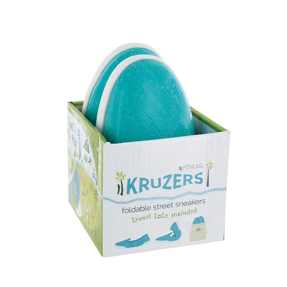 turquoise kruzers foldable sneakers, teal, green, shoes with bag, slip on sneakers