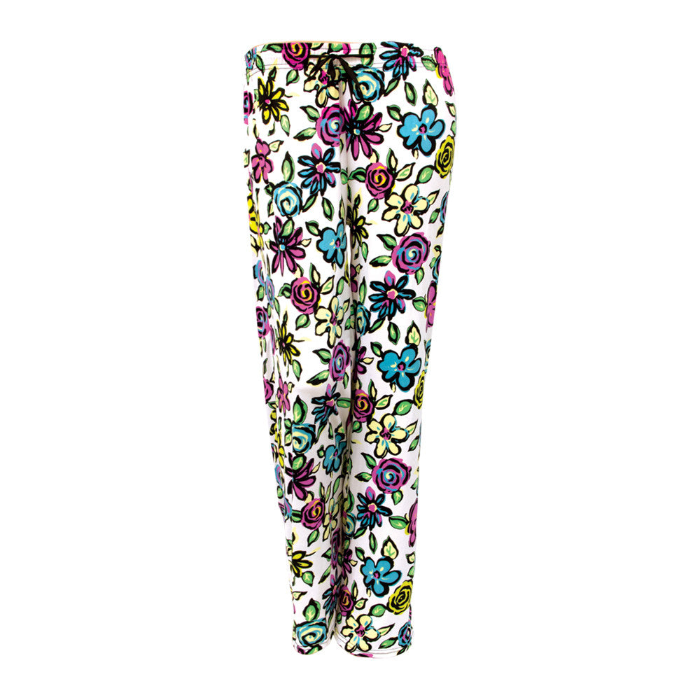 hello mello pants, awake break, flower pajama pants, soft lounge pants