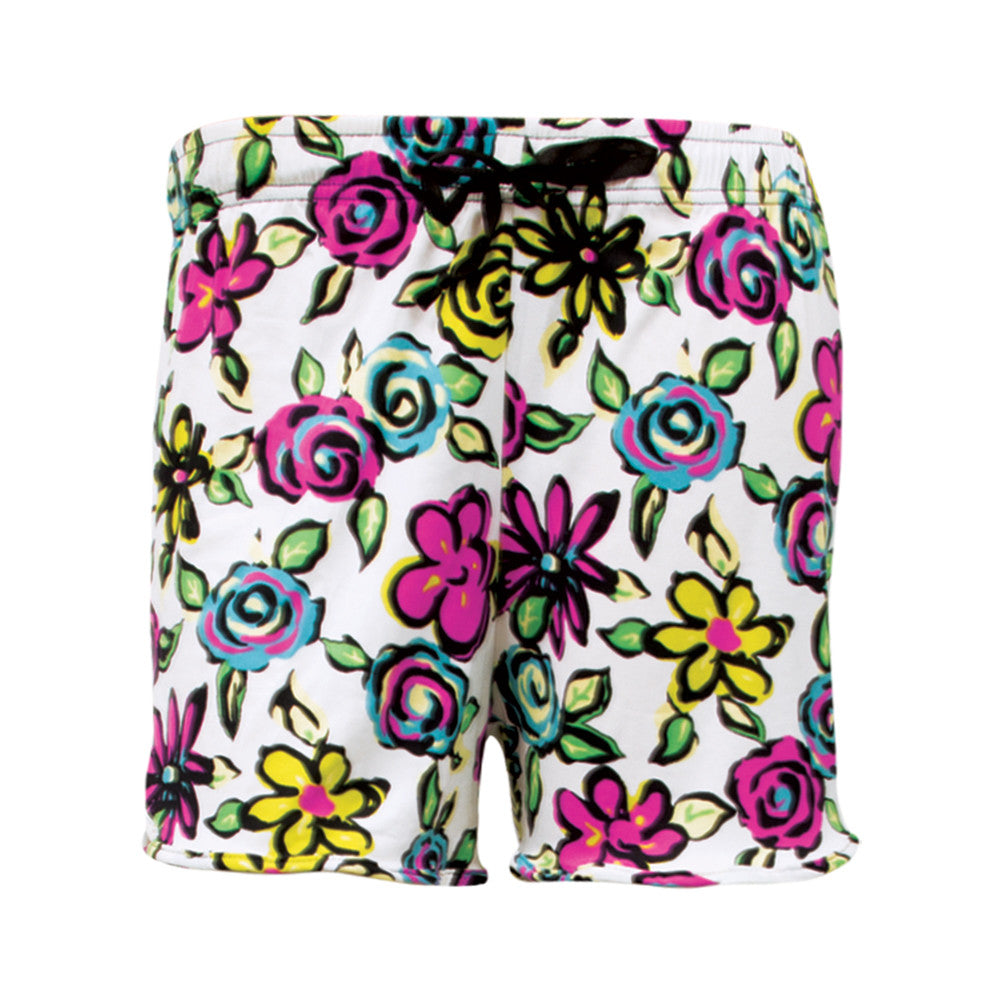 awake break, hello mello shorts, lounge shorts, bright flowers