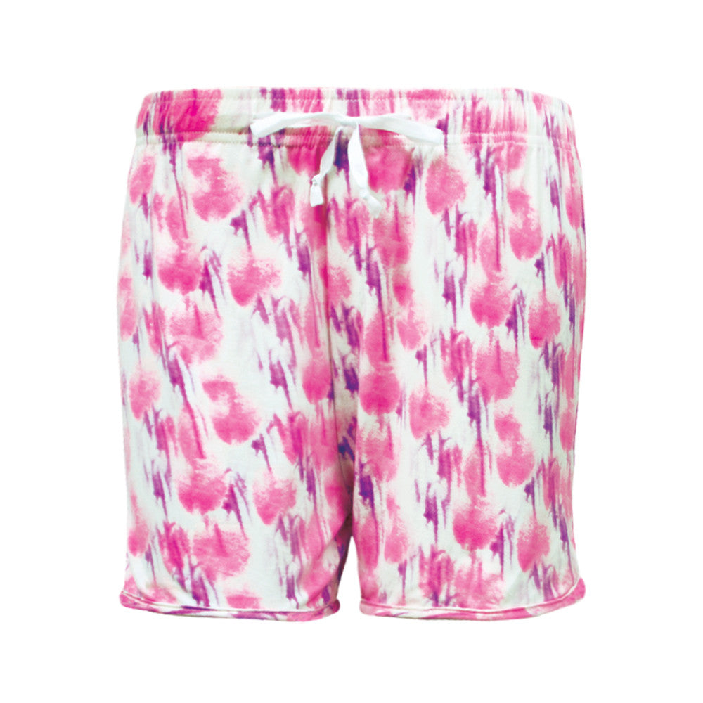 hush rush, hello mello shorts, pajama shorts, pink lounging shorts