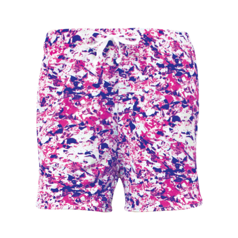 hello mello shorts, nerve reserve, pajama shorts for lounging, purple