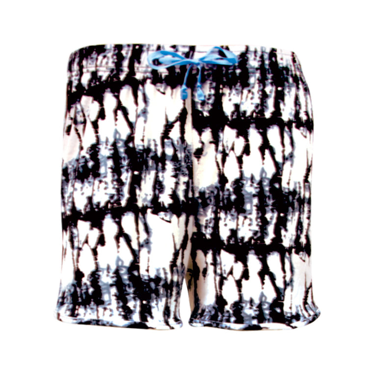 hello mello shorts, quiet riot, black and white pajama shorts