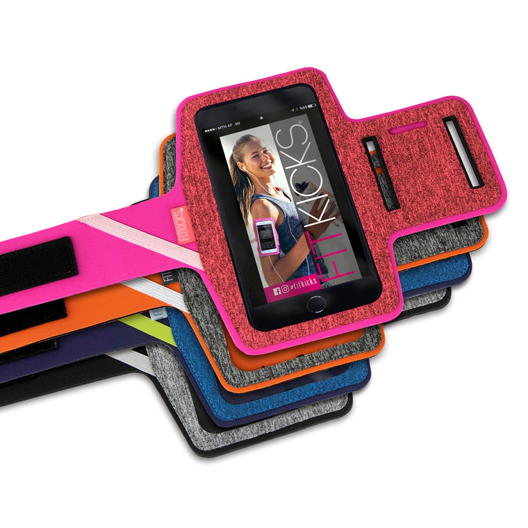 fitkicks arm band for exercise in 4 colors, smart phone armband