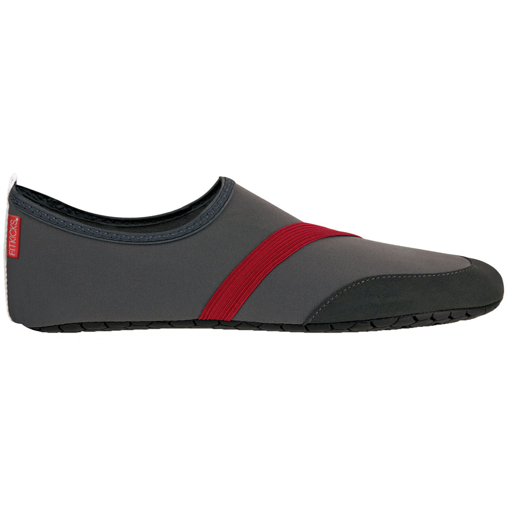 two tone gray mens fitkicks, gray and red