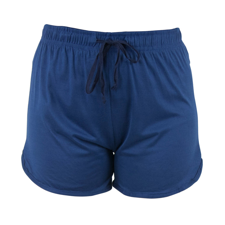lounge shorts, solid blue, moody blue, total bliss by hello mello
