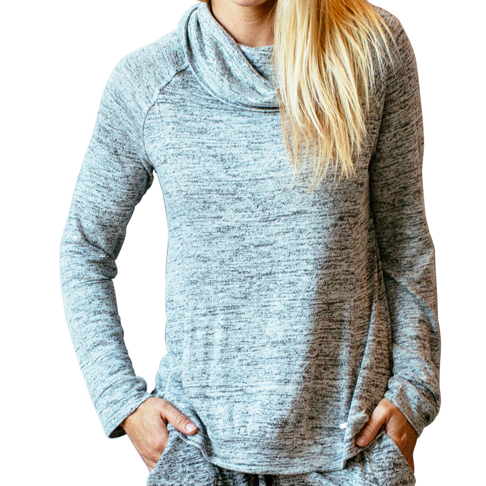 top with pockets, gray, grey, carefree threads, hello mello lounge wear