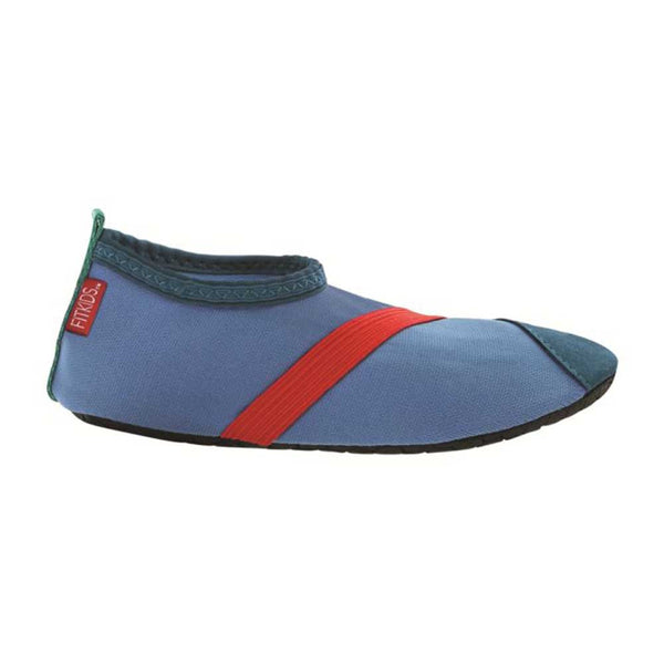 fitkids fitkicks for kids, blue with red stripe, fit kicks for kids