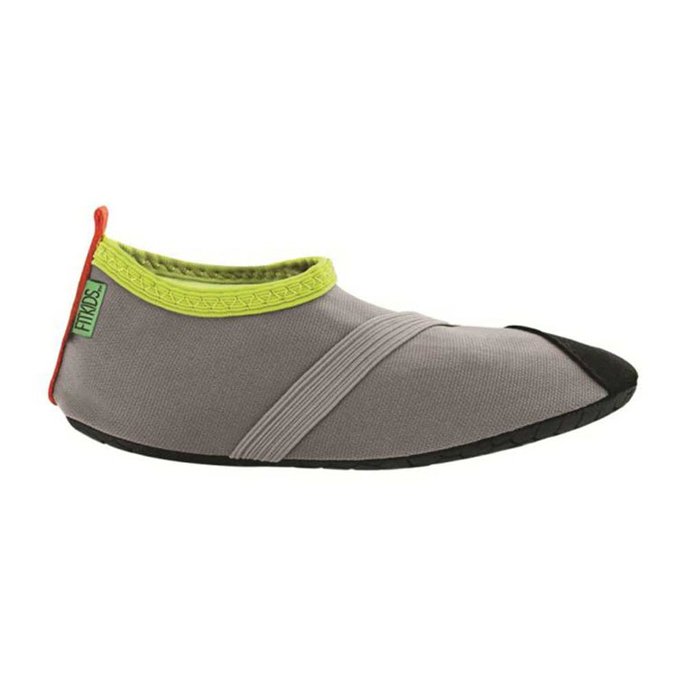 fitkids fitkicks for kids, grey with lime accents, fit kicks for kids