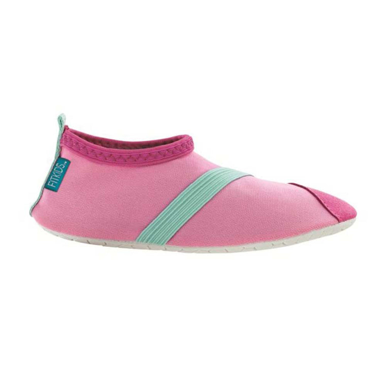 fitkids fitkicks for kids, pink with aqua strap, fit kicks for kids