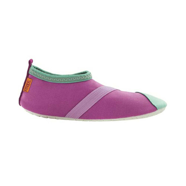 fitkids fitkicks for kids, purple with mint accents, fit kicks for kids