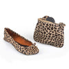 Side Kicks folding ballet flats in Leopard