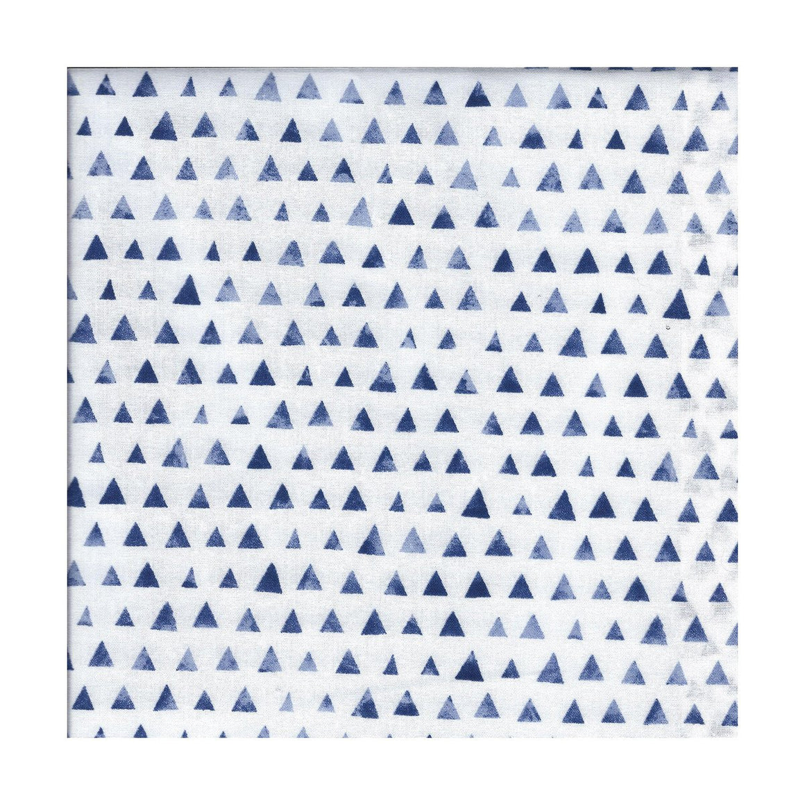 bandana, multi colored, graphic blue triangles on white, exclusive, unique to bazooka bandanas, tenegui, rectangle