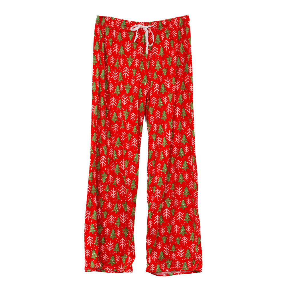 hello mello lounge pants, holiday theme, tree glee