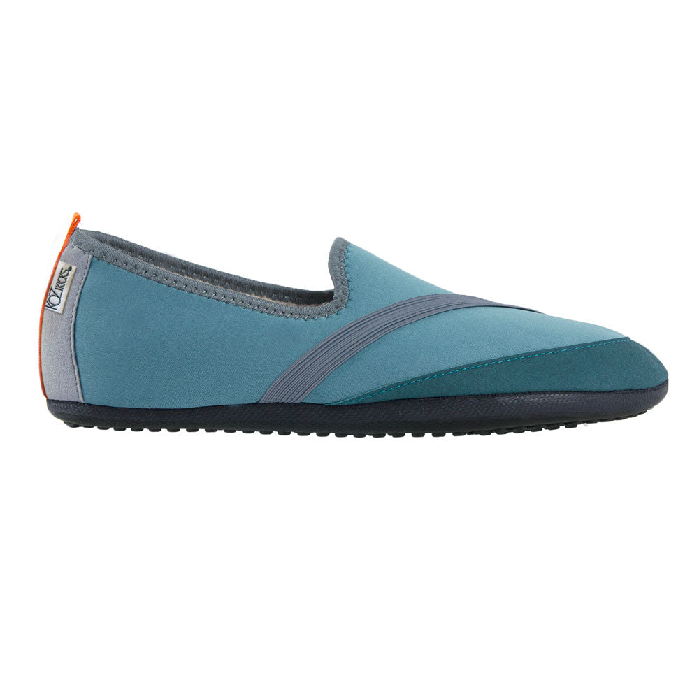 mens kozikicks, blue, indoor outdoor slippers, rugged sole