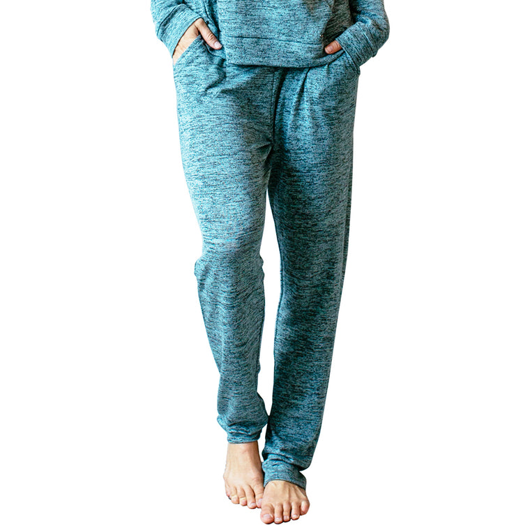 pants with pockets, mint, green, teal, carefree threads, hello mello lounge wear