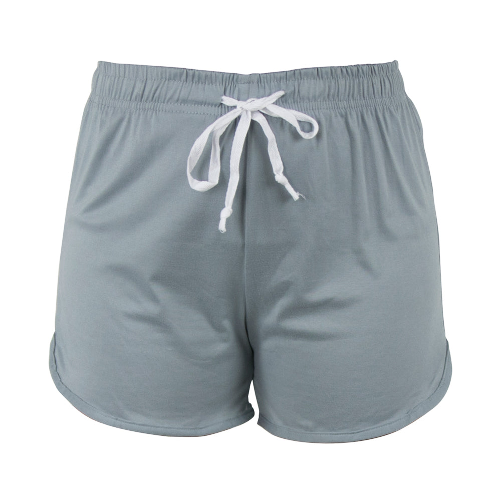 lounge shorts, solid gray, grey, morning fog, total bliss by hello mello