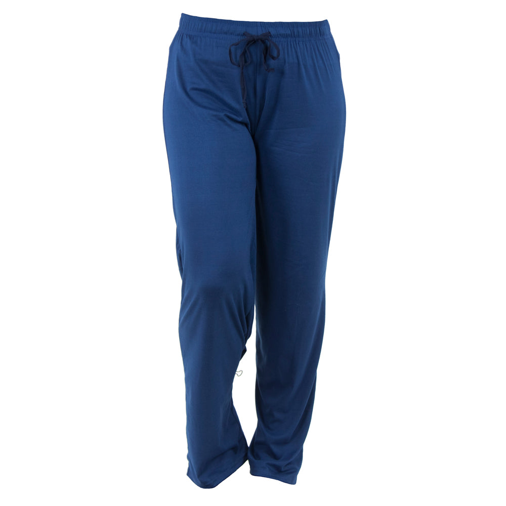 lounge pants, solid blue, moody blue, total bliss by hello mello