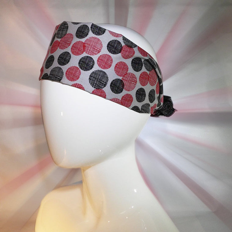 bandana, multi colored, graphic dots, exclusive, unique to bazooka bandanas, tenegui, rectangle