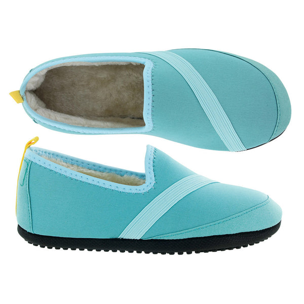 kozi kicks slippers from fitkicks, outdoor sole, turquoise, teal, blue green