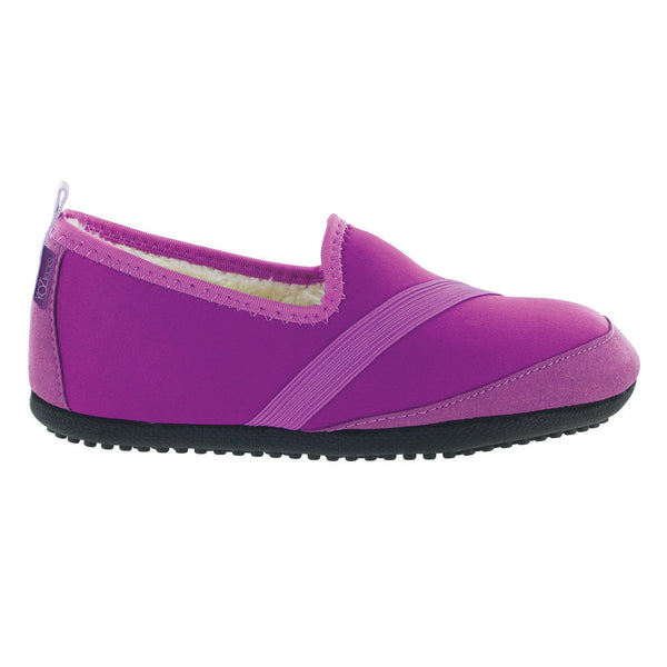 kozikicks slippers by fitkicks, indoor outdoor slippers, purple