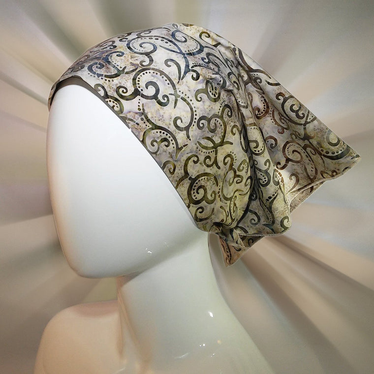 bandana, tribal in shades of brown, exclusive, unique to bazooka bandanas