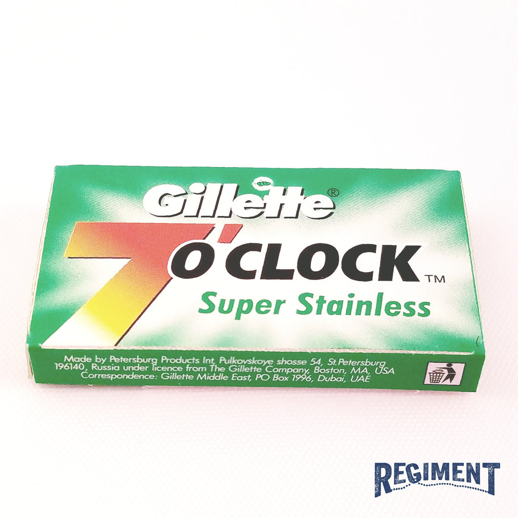 Gillette 7 O' Clock Super Stainless Razor Blade 5 Pack
