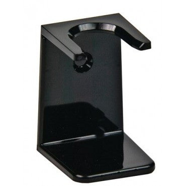 Shaving Brush Stand, Black Acrylic, Standard Mouth