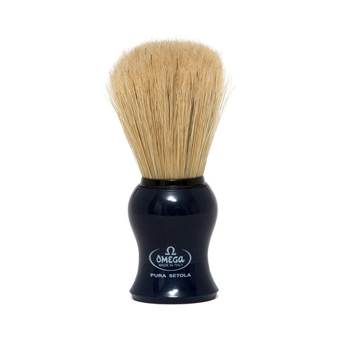 Omega Hog Bristle Shaving Brush (Blue)