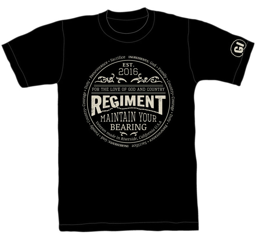 "Regiment ""Maintain Your Bearing"" T Shirt"