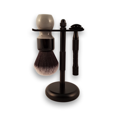 Regiment HQ Brush and Razor Stand, Black