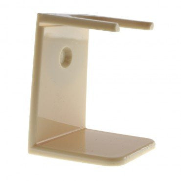 Shaving Brush Stand, Ivory Acrylic, Standard Mouth