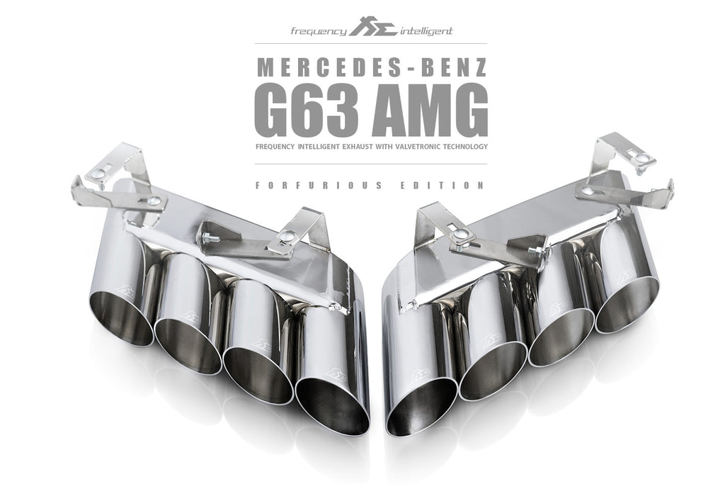 MERCEDES G63 AMG VALVETRONIC DOUBLE QUAD FI EXHAUST SYSTEM