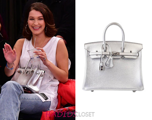 f5aca31b8b The Unicorn Silver Metallic Hermes Birkin 25 – mightychic