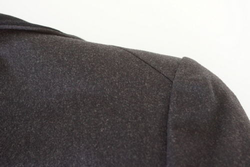 Hermes Jacket Charcoal Cashmere Gray Rear Keyhole Riding Influence Vintage 38 / 6 - mightychic
