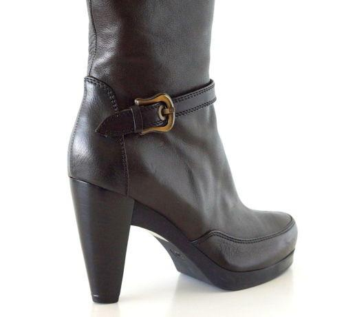 Fendi Boot Platform Knee High Dark Brown 39.5 / 9.5 - mightychic